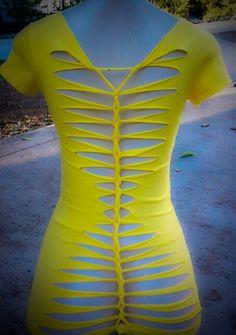 Adam Saaks inspired yellow cut up tshirt..
