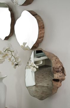 Handmade Home Decor 17 Adorable DIY Home Decor with Mirrors www. Easy Home Decor, Handmade Home Decor, Cheap Home Decor, Nature Home Decor, Home Ideas Decoration, Home Decorations, Hone Decor Ideas, Mirror Decorations, Wood Home Decor