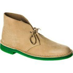 """""""clarks Desert Boot – Men's Sand Nubuck/green Sole"""