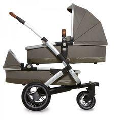 Der Joolz Geo Twin für zwei Neugeborene inklusive zwei Babywannen, zwei Sitze und XL Einkaufskorb.