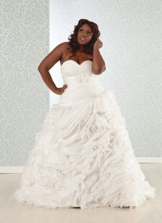 $500 OFF!!! MEMORIAL DAY SALE Pricilla | Plus Size Ball Gown www.realsizebride.com