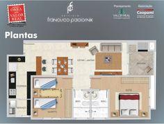 Planta. Projeto Edifício Francisco Paciornik. Av. Sete de Setembro, 3485 - Cristo Rei, Curitiba - PR.