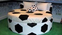 My future bed Soccer Room Decor, Soccer Bedroom, Football Bedroom, Kids Room Bed, Girl Room, Kids Bedroom, Football Bedding, Football Rooms, Contemporary Headboards