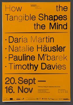 Unfun's sleek typographic posters for German gallery Kunstverein Nürnberg