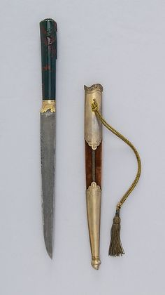 Knife (Kard) with Sheath, Turkey, 18th - 19th century