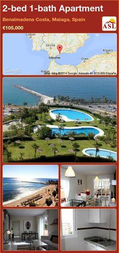 2-bed 1-bath Apartment in Benalmadena Costa, Malaga, Spain ►€105,000 #PropertyForSaleInSpain