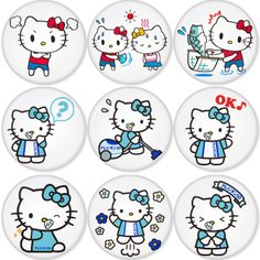 "HELLO KITTY 1.75"" Badges Pinbacks, Mirror, Magnet, Bottle Opener Keychain http://www.amazon.com/gp/product/B00BW8LHC4"