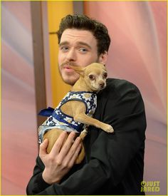Cinderella's Richard Madden Charms Us with This Cute Puppy!