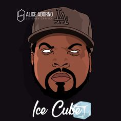 Ilustração: Ice Cube #anime #illustration #art #aliceadorno #digitalart #nygga #icecube #rapper #usa #smoke #weed #brazil
