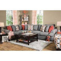 Darby Home Co Fyffe Sectional Upholstery: Gray