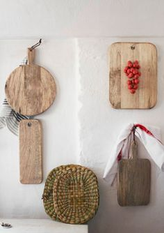 Chopping Boards By Toast Uk Pinned To The Wall Great Display Idea Via Remodelista