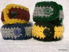harry potter inspired bracelet crochet (large) gryffindor / ravenclaw / hufflepuff / slytherin via Etsy