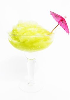 Japanese Margaritas: honeydew melon, lime juice, tequila & midori