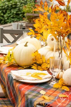 So much inspiration for setting a beautiful and yet casual table for Thanksgiving. Plus lots of tips here...