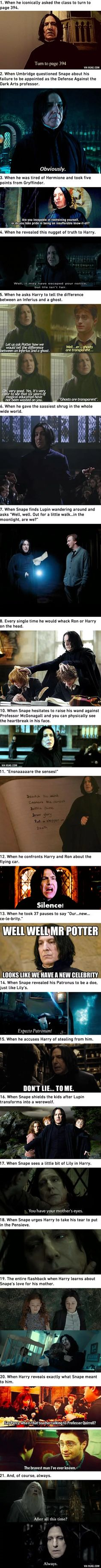 "21 Professor Snape Moments In ""Harry Potter"" That Make Us Love Him. Alan Rickman made it even more special. No one loves snape Harry Potter World, Harry Potter Thema, Mundo Harry Potter, Harry Potter Jokes, Harry Potter Universal, Harry Potter Fandom, Harry Potter Severus Snape, Harry Potter Characters, Hermione Granger"