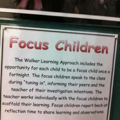 Focus children descriptor for parent board. Visible Learning, Learning Through Play, Planning Cycle, Teaching Displays, Parent Board, Transitional Kindergarten, Inquiry Based Learning, Effective Learning, Learning Support