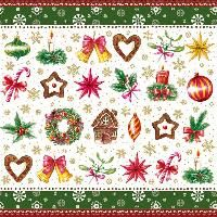 2092 V Servilleta decorada Navidad