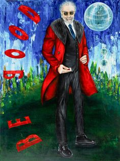 El psiquiatra | The psychiatrist | Acrílico sobre lienzo | Acrylic on canvas by Pili Tejedo 100 x 130 cm