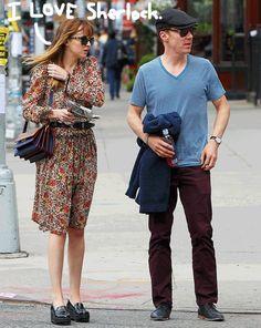 benedict cumberbatch dakota johnson lunch date after met gala new york....click for story...