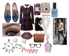 """""""Preppy girl"""" by vintagegabbi on Polyvore featuring Charlotte Russe, Lime Crime, Lauren B. Beauty, Avery, James Avery and Muse"""