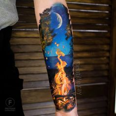 tattoo tattoo tattoo calf tattoo ideas tattoo men calves tattoo thigh leg tattoo for men on leg leg tattoo Neue Tattoos, Body Art Tattoos, Tattoo Sleeve Designs, Sleeve Tattoos, Northern Lights Tattoo, Tattoo Henna, Tattoo Thigh, Ankle Tattoo, Sunset Tattoos