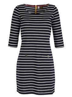 Joules Striped Jersey Dress