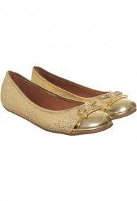 Via Uno - Ballerinas  15110275 Gliterspechio oro
