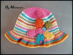 Chapeau crocheté main en coton