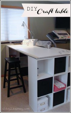 Have you wanted to make a craft table without breaking the bank? One t… :: Hometalk