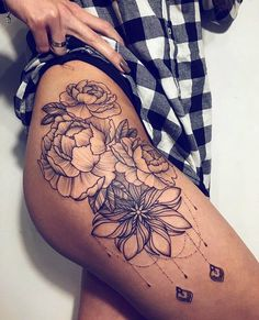 Resultado de imagem para tatuagem na coxa