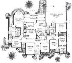 English Country Style House Plans   Square Foot Home      English Country Style House Plans   Square Foot Home  Story