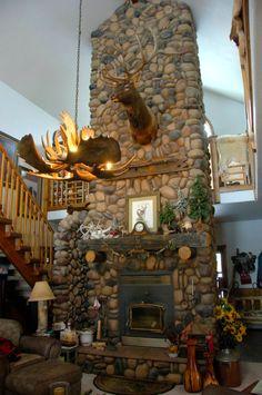 Custom River Rock Fireplace photo - Paula Krugerud photos at pbase.com
