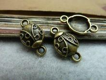 50 шт. античная бронзовая жук разъемы DIY ювелирных изделий(China (Mainland))