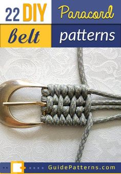 22 DIY Paracord Belt Projects | Guide Patterns