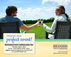 Destination Events: 2016 Fam Tour for Montgomery County, VA