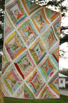 String Quilt Finished by Erin @ Why Not Sew? Quilts, via Flickr