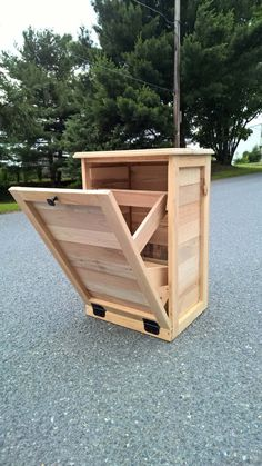 Tilt Out Garbage Can Wood Furniture Pallet Wood Rustic Wood Trash Can Tilt Out Garbage Can Wood Furniture Pallet Wood Rustic Wood Etsy Woodworking Projects Diy, Diy Pallet Projects, Woodworking Furniture, Woodworking Plans, Furniture Repair, Furniture Stores, Cheap Furniture, Woodworking Magazines, Discount Furniture