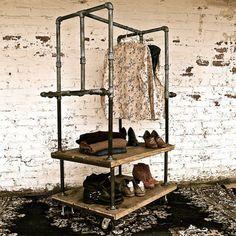 Galvanised galvanized pipe clothes racks and rails