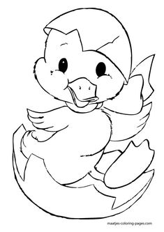 Baby Chick A Twin Coloring Page