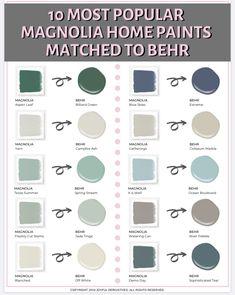 Behr Paint Colors, Paint Color Schemes, Paint Colors For Home, Furniture Paint Colors, Behr Exterior Paint Colors, Home Color Schemes, Living Room Paint Colors, Fixer Upper Paint Colors, Most Popular Paint Colors