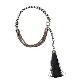 ShopBazaar Lanvin Vita Short Tassel Necklace MAIN
