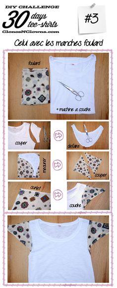 DIY tee-shirt foulard vintage