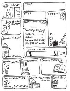 ALL ABOUT ME FREEBIE! - this is great for FIRST week of school - or for a show and tell guide or the person of the week
