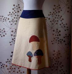 Kimono Mushroom Skirt  Custom Made by rikarika