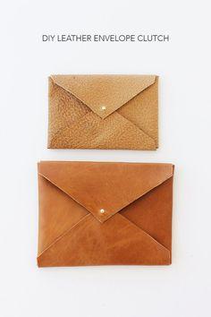 DIY Leather Envelope Clutch