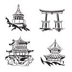 Temple Illustrations and Clipart. Temple royalty free illustrations, drawings and graphics available to search from thousands of vector EPS clip art providers. Japanese Temple Tattoo, Bullet Journal Japan, Building Tattoo, Temple Drawing, Japanese Pagoda, Family Tattoo Designs, Japanese Buildings, Dibujos Tattoo, Japan Tattoo