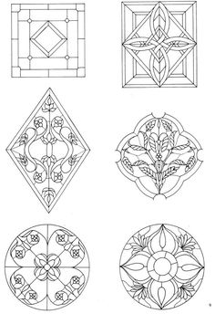 162 Traditional and Contemporary Designs for Stained Glass Projects 2 - Dover Publications #FauxStainedGlass