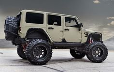 Jeep Wrangler Unlimited in Desert Tan
