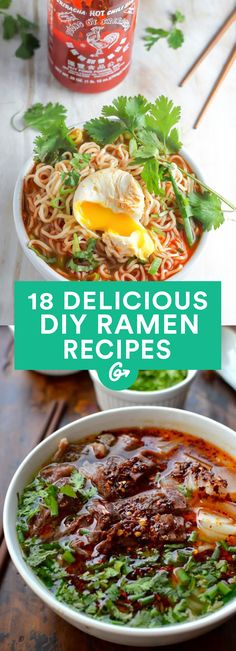 17 DIY Ramen Recipes That'll Make You Forget About Instant Noodles #healthy #recipes #ramen http://greatist.com/eat/healthier-ramen-recipes