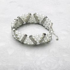 Michaels.com Wedding Department: Three Strand Pearl Bracelet